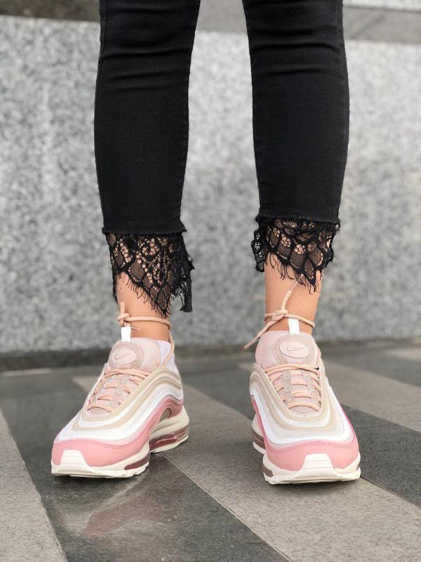 Красивые кроссовки nike 97 в розовом цвете с рефлективом (весн... - Фото 10