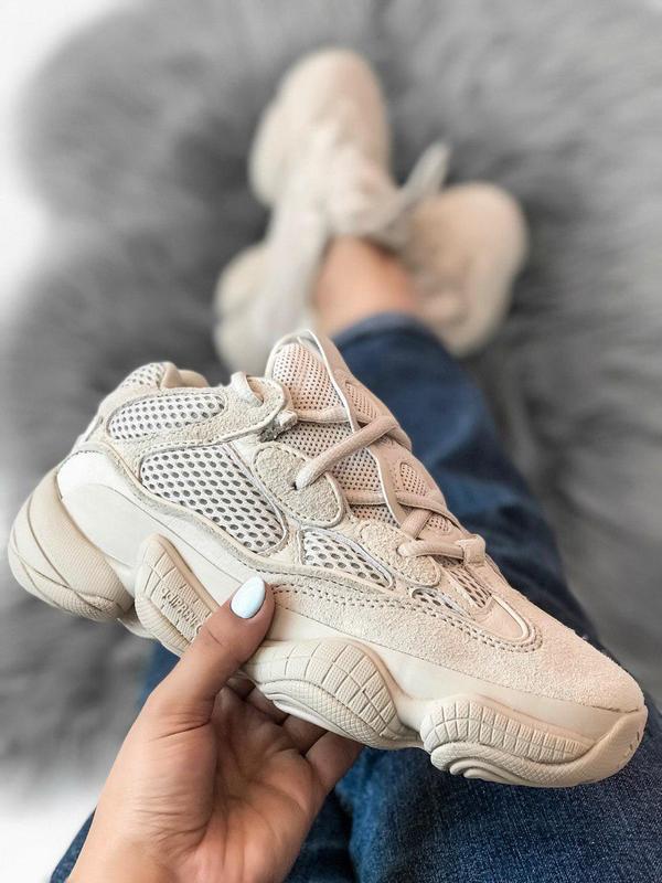 Замшевые кроссовки adidas в бежевом цвете (весна-лето-осень)😍