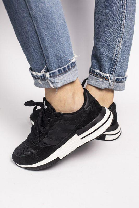Удобные замшевые кроссовки adidas в черном цвете (весна-лето-о...