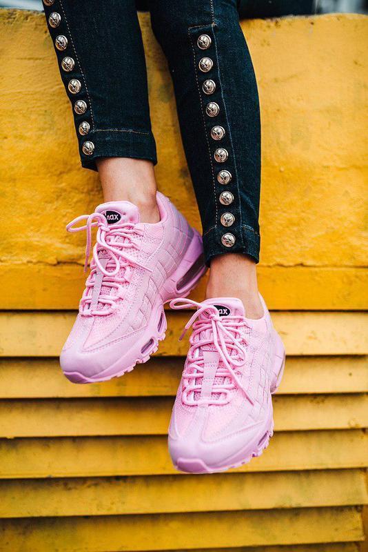 Шикарные кроссовки nike air max 95 в розовом цвете (весна-лето...