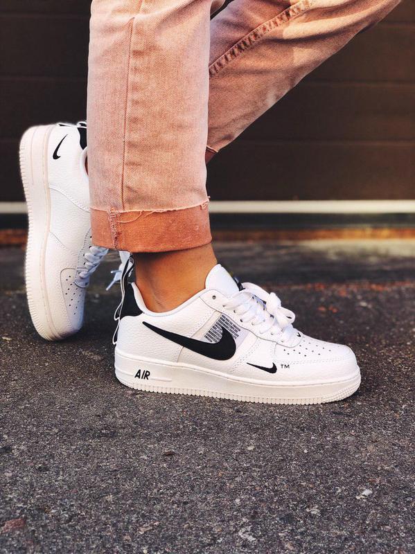 Шикарные белые кроссовки nike air force (весна-лето-осень)😍
