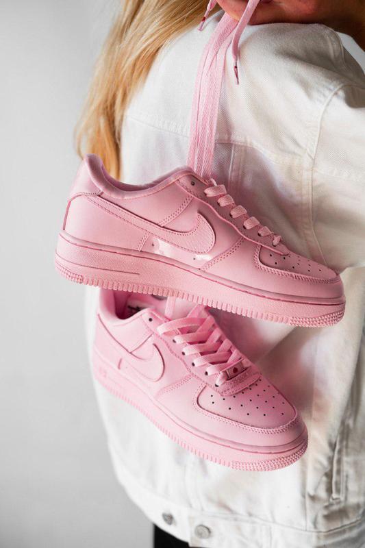 Шикарные кроссовки nike air force в розовом цвете (весна-лето-...