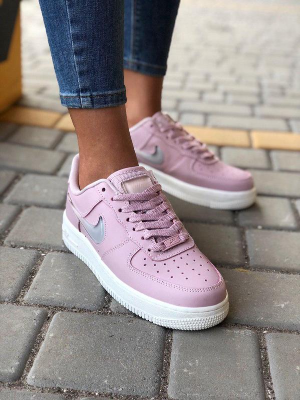 Крутые женские кроссовки nike air force в розовом цвете (весна...