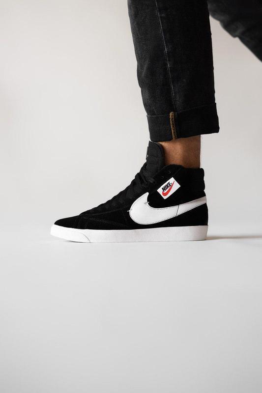 Шикарные кроссовки nike blazzer black (весна-лето-осень)😍
