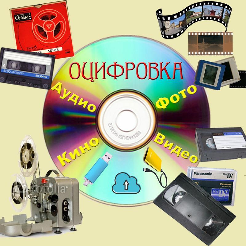 Оцифровка кино, видео, аудио, фото, негатив, слайды.