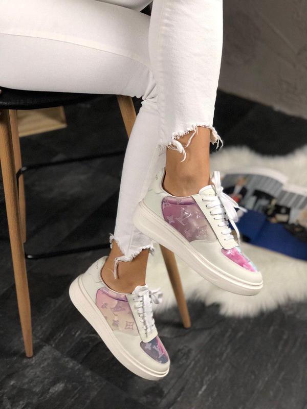 Прекрасные классические женские кроссовки из кожи (весна-лето-...