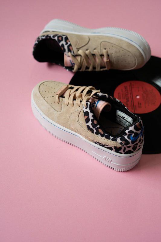 Дизайнерские кроссовки nike premium leopard из замши (весна-ле...