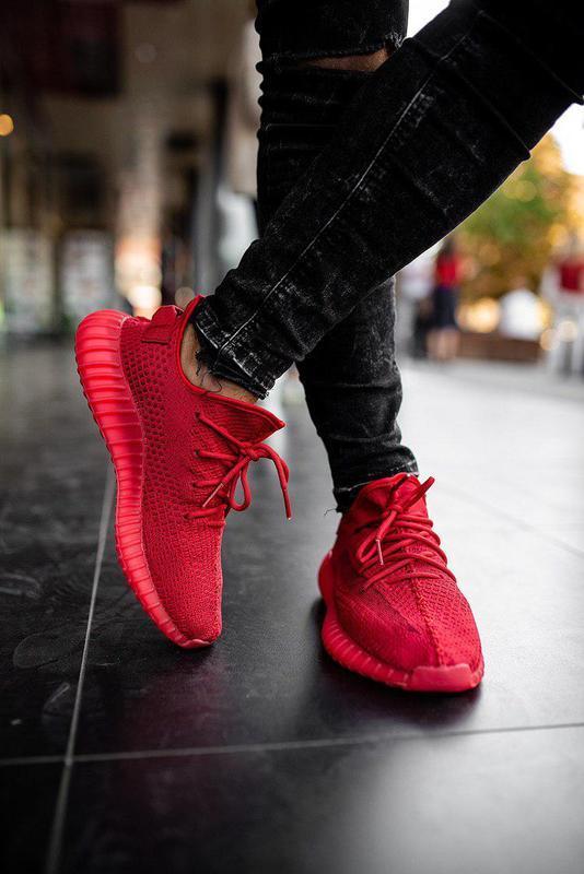 Непревзойденные унисекс кроссовки adidas в красном цвете (весн...