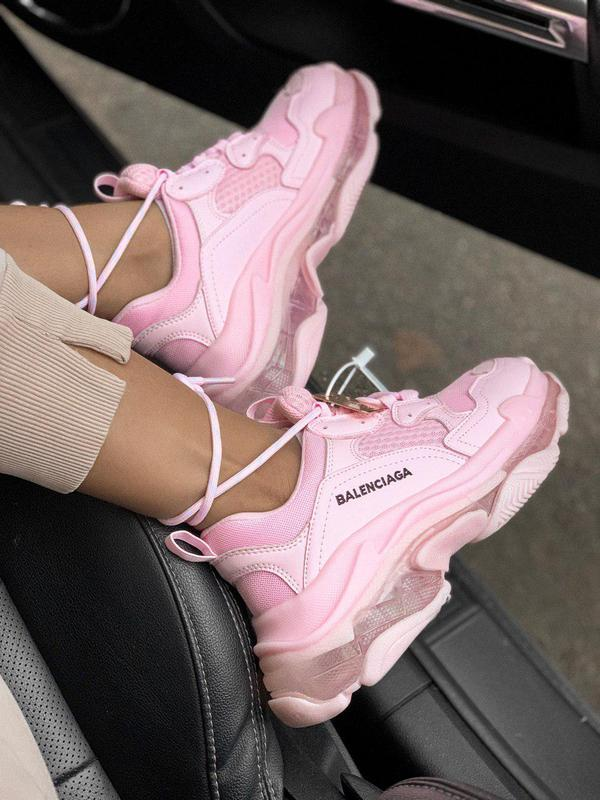 Стильные женские кроссовки в розовом цвете (весна-лето-осень)😍