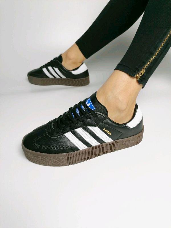 Стильные кроссовки в черном цвете adidas samba (весна-лето-осе...