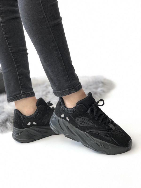 Шикарные замшевые кроссовки adidas в полностью черном цвете (в...