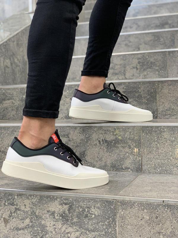 Шикарные мужские кроссовки adidas в белом цвете (весна-лето-ос...