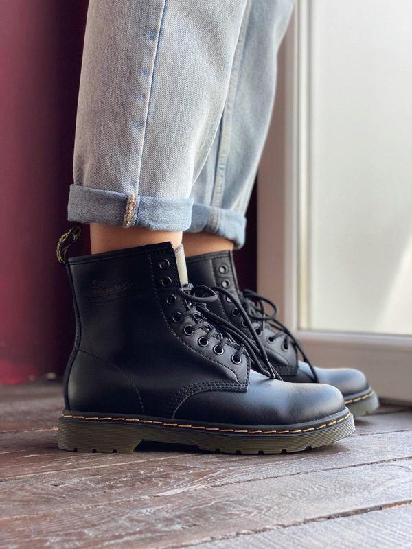 Красивые женские демисезонные ботинки dr.martens (осень-зима-в...