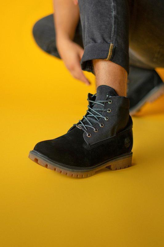 Крутые мужские ботинки timberland в черном цвете (осень-зима-в...