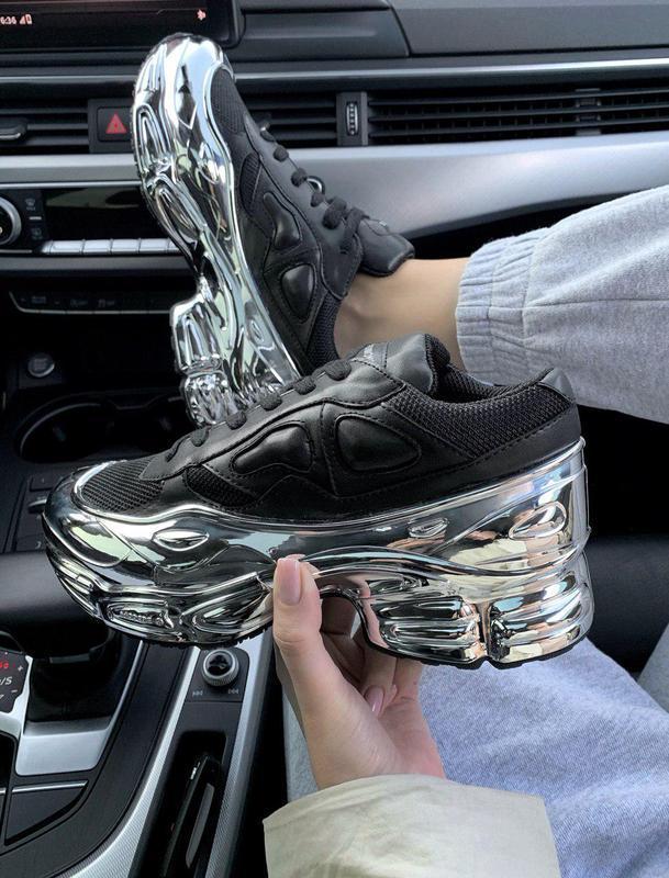 Шикарные женские кроссовки adidas raf simons ozweego (весна-ле...