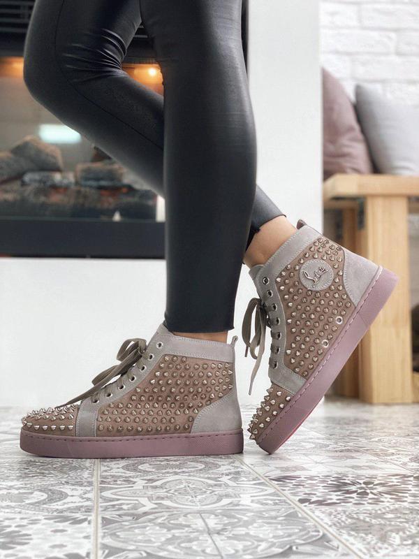 Стильные дизайнерские кроссовки с шипами (весна-осень-лето)😍