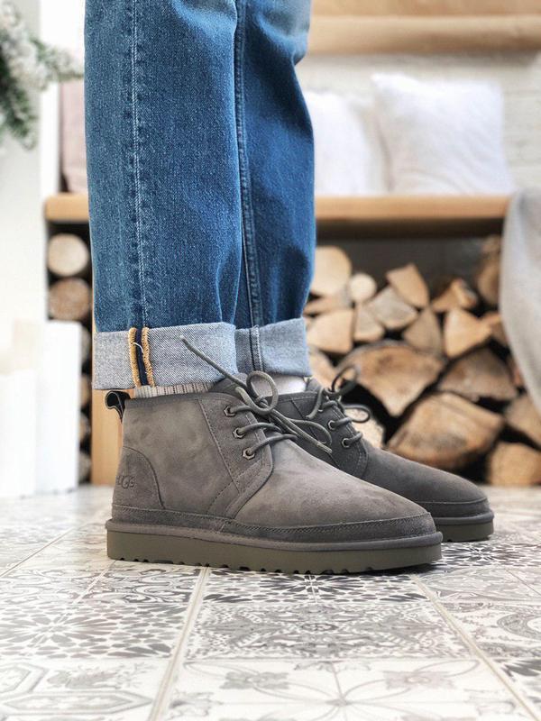 Шикарные мужские зимние ботинки  ugg в сером цвете (осень-зима...