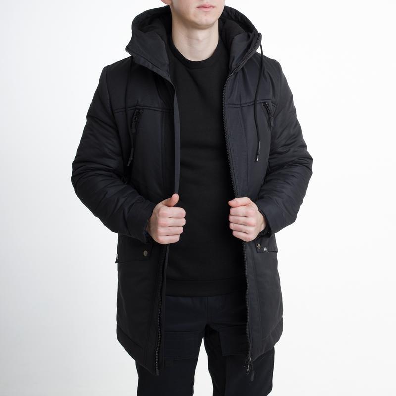 Шикарная зимняя мужская курточка тур в черном цвете /курточка/...