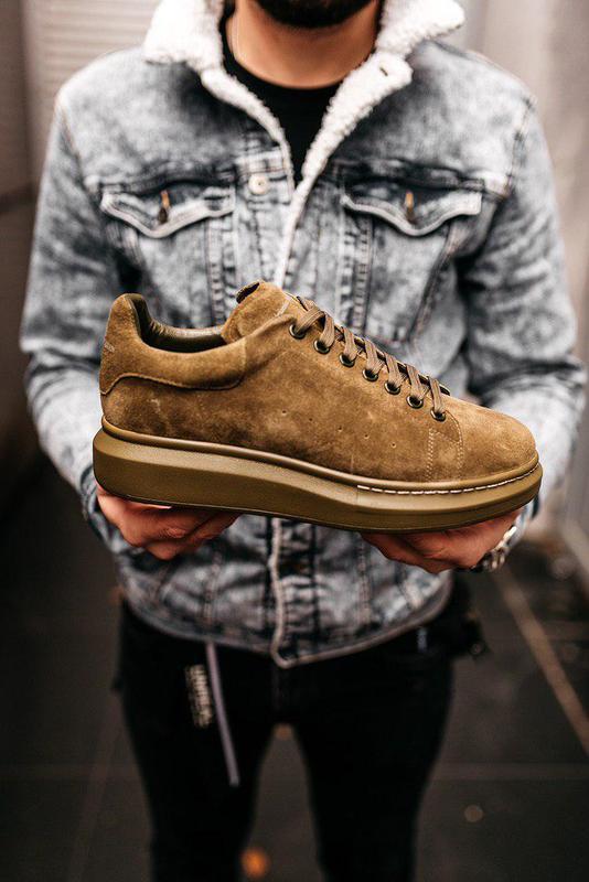 Стильные замшевые мужские кроссовки alexander mcqueen (весна-л...