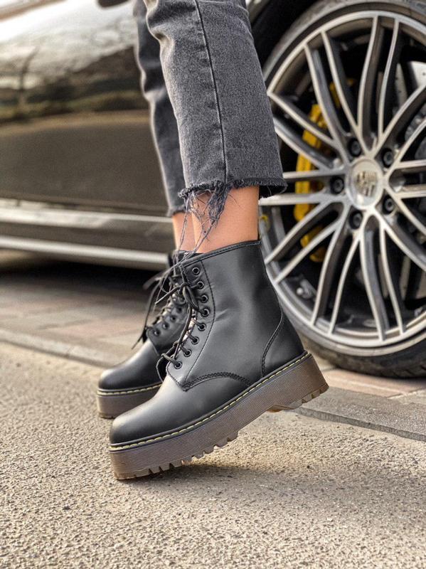 Шикарные ботинки на платформе dr. martens high с теплым мехом ...