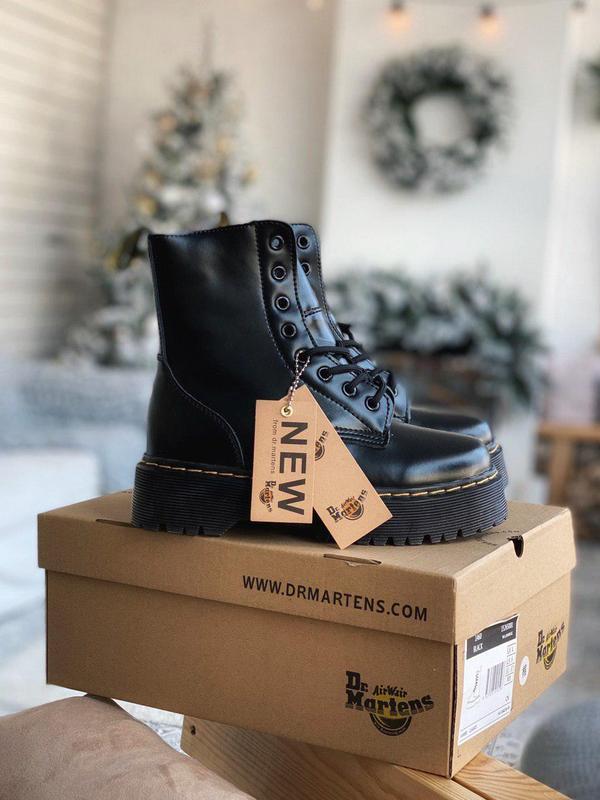 Шикарные зимние ботинки dr martens на платформе с мехом /осень...