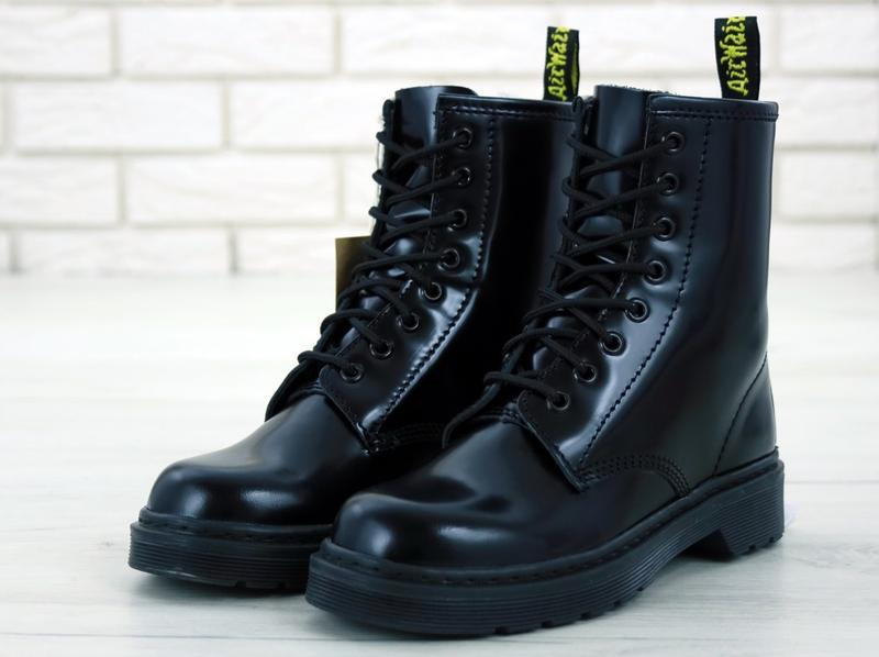Dr martens демисезонные женские ботинки в черном цвете /осень/...