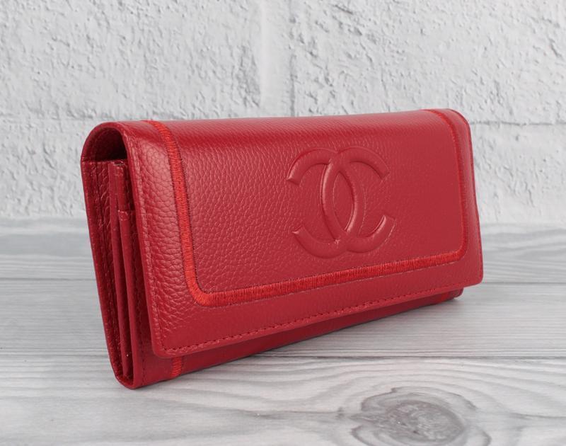 Кошелек женский кожаный 9303 красный классический