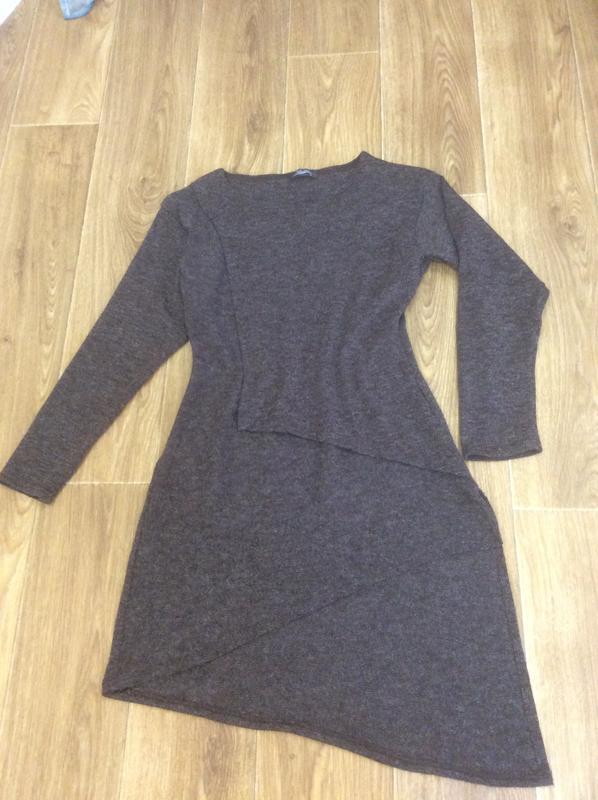 Платье туника коричневая