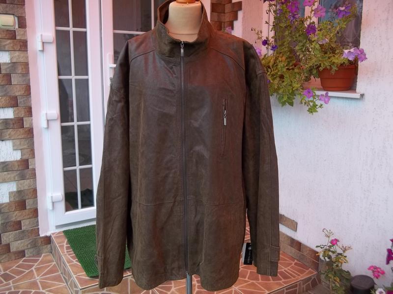 5xl (66-68р) кожаная куртка большого размера новая германия