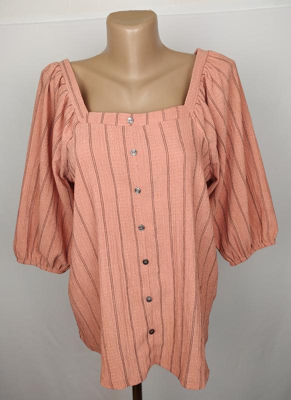 Блуза модная в полоску f&f uk 12/40/m