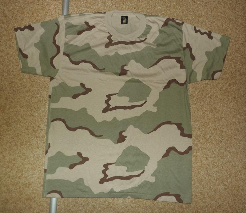 .камуфляжная футболка 3 color desert