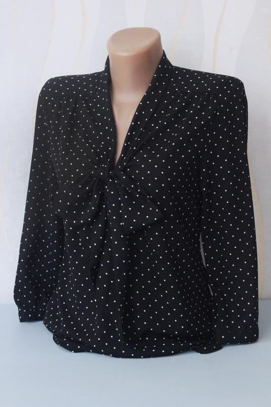 Актуальная блуза блузка рубашка с бантом в горох от h&m