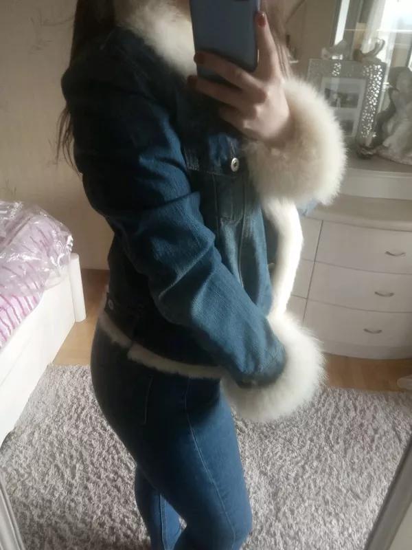 Теплая джинсовка кролик - Фото 5