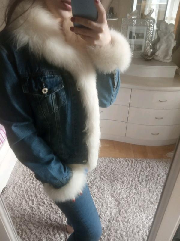 Теплая джинсовка кролик