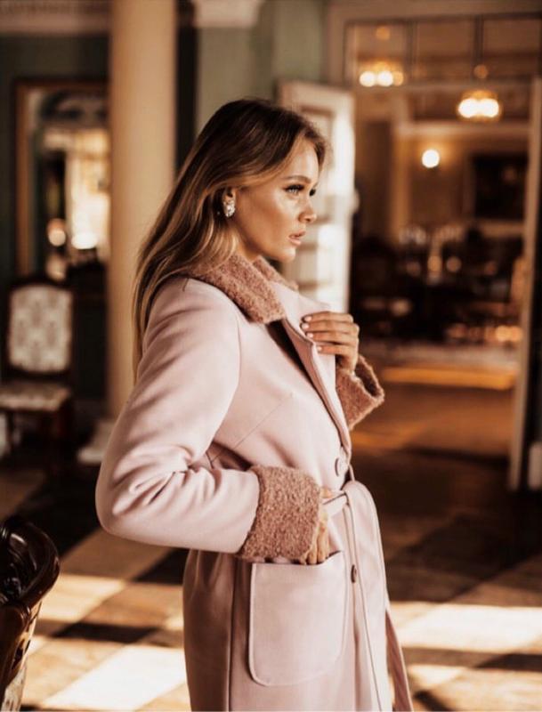Зимнее пальто с поясом valentir