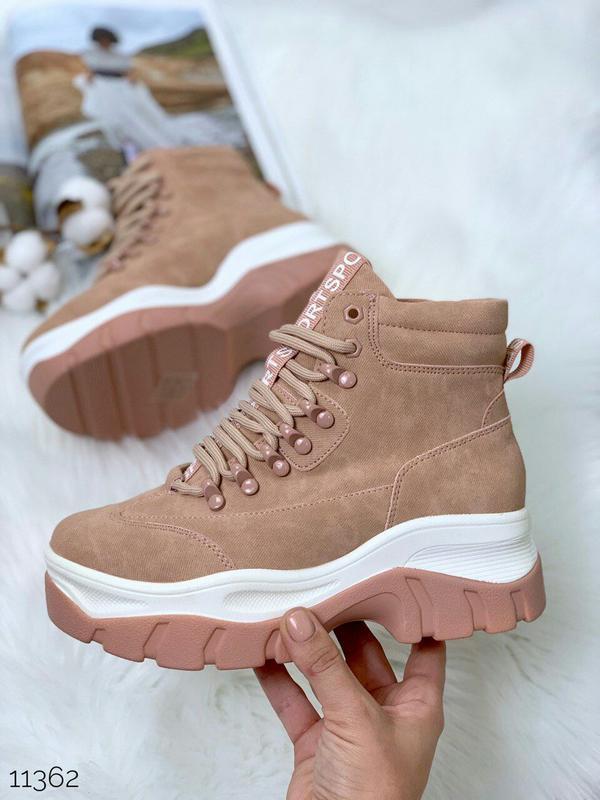 Стильные пудровые ботиночки деми