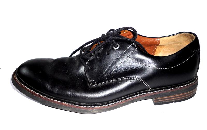 Кожаные туфли clarks р.42
