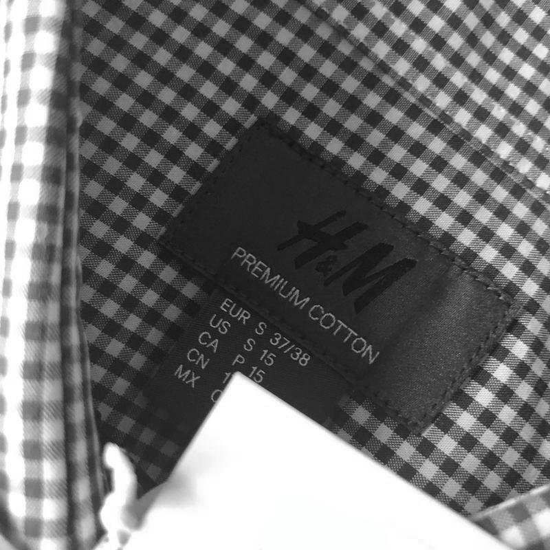 Клечатая рубашка h&m premium quality из поплина !