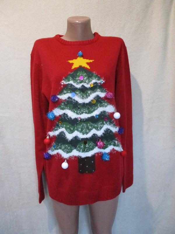 Новогодний свитер с елочкой, нарядный/family look/фемили лук