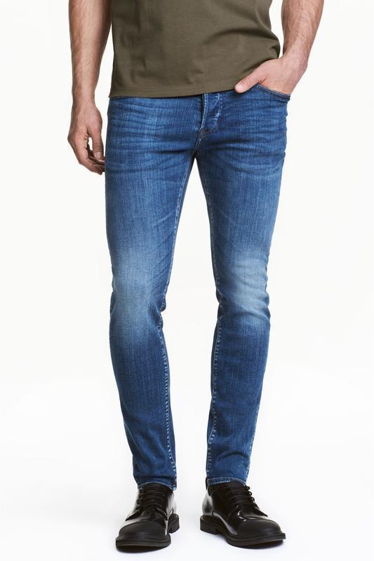 Синие джинсы h&m, skinny jeans !
