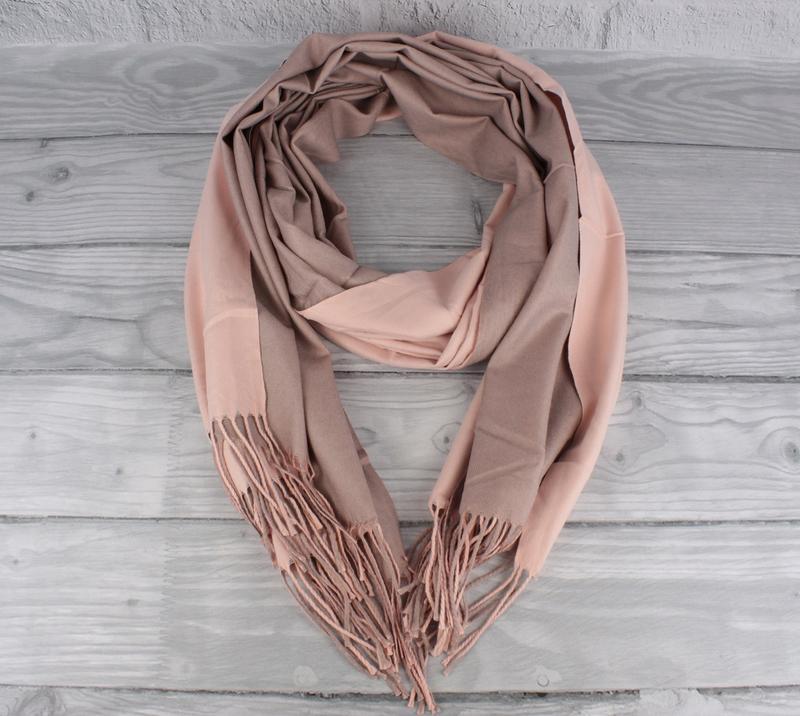 Двусторонний кашемировый шарф, палантин cashmere 7280-9 светла...