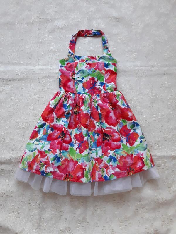 Яркое нарядное платье next, р. 134
