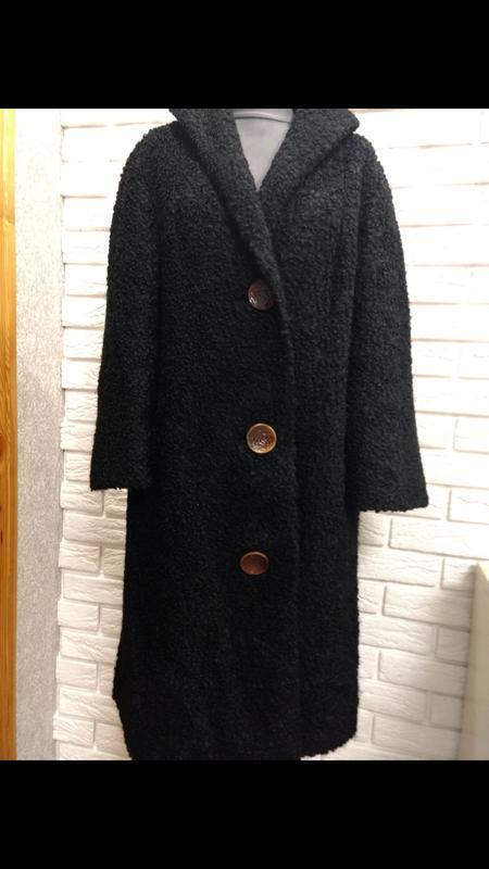 Актуальное пальто каракуль шерсть германия - Фото 7