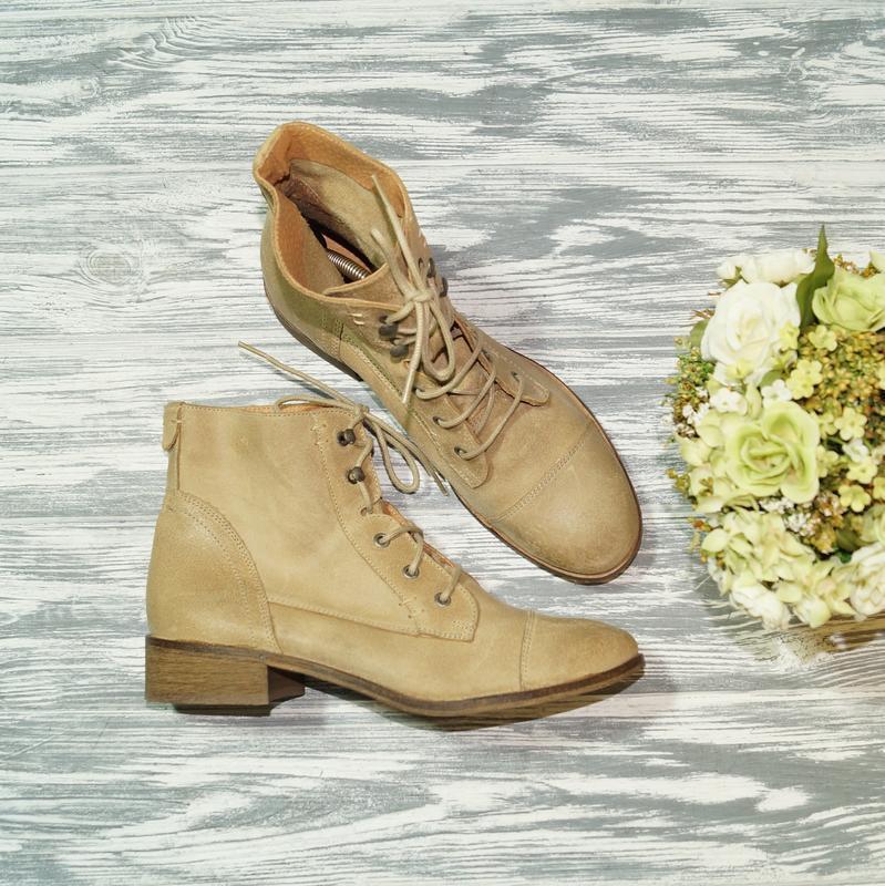 🌿39🌿texto. португалия. кожа. стильные ботинки на низком ходу