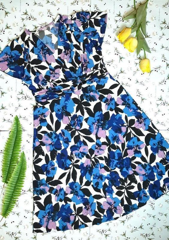 🎁1+1=3 шикарное нарядное платье в цветах миди julipa, размер 5...