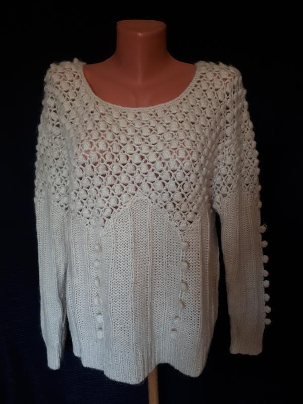 Стильный свитшот* свитер крупной вязки vero moda( размер 38)