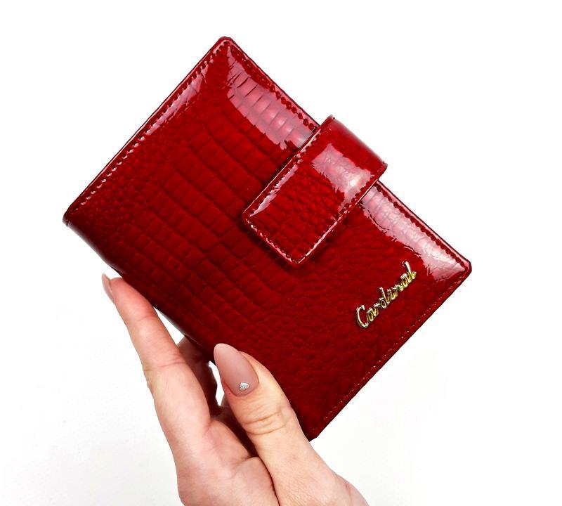 Кожаный красный кошелек, cardinal