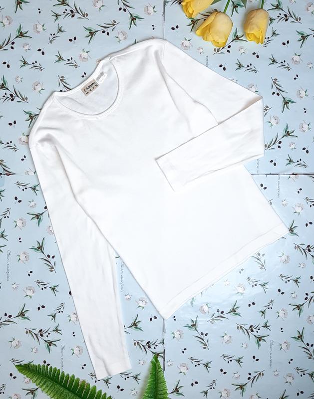 🎁1+1=3 фирменный белый свитер гольфик водолазка лонгслив casua...