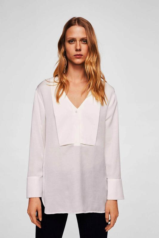 Mango белая блуза