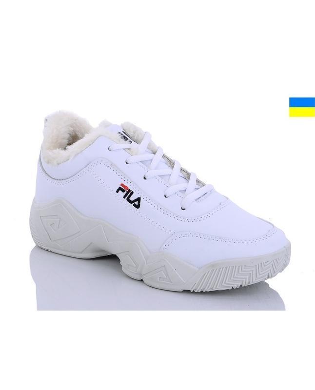 Зимние женские белые короткие кроссовки ботинки на шнурках